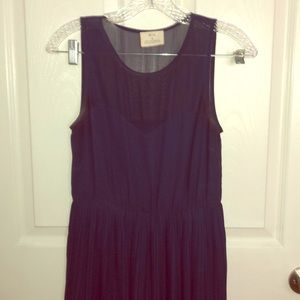 Flowy dress, sheer overlay, sweetheart neckline